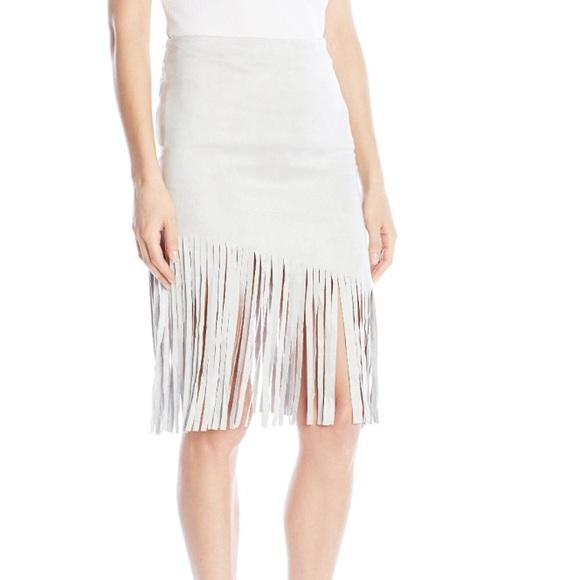 BB Dakota Dresses & Skirts - BB Dakota NWT faux suede fringe skirt